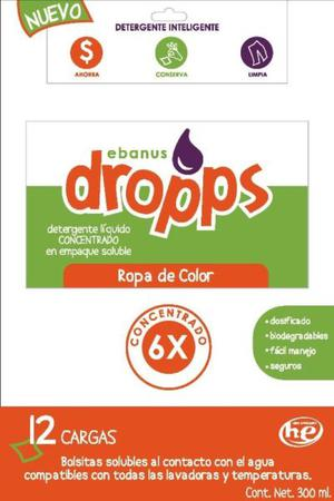 Ebanus Dropps Detergente Capsulas Ropa Color Caja Con 12 Pz