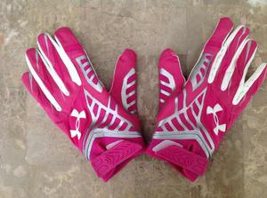 Guantes Under Armour Nfl Rosa Talla L