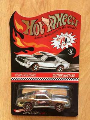 Hot Wheels Exclusivo Redline Club Custom Mustang .