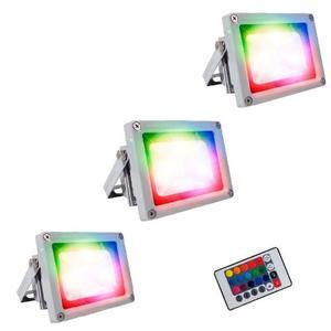 Lampara Led Reflector Led 10w Rgb X 3 Promocion Limitada
