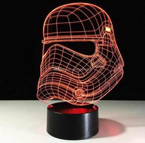 Lamparas Led Ilusion 3d Star Wars