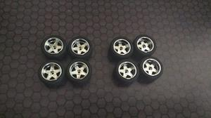 Llantas De Goma Para Hotwheels Customs Juego De 4 Llantas