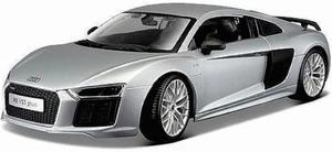 Maisto 1/18 Audi R8 V10 Plus Plata Diecast Metal / No Burago