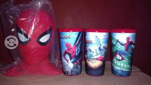 Palomera y vasos Cinemex de Spiderman homecoming