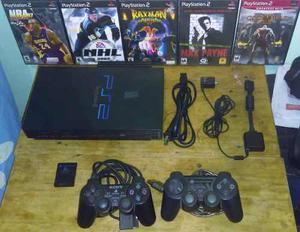 Play Station 2 Fat (usado) + 6 Juegos