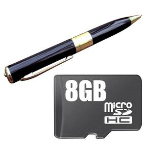 Pluma Con Camara Espia Hd Memoria 8gb Integrada,