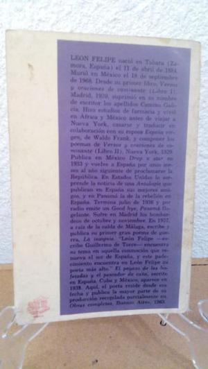Versos Y Oraciones De Caminante León Felipe  Málaga