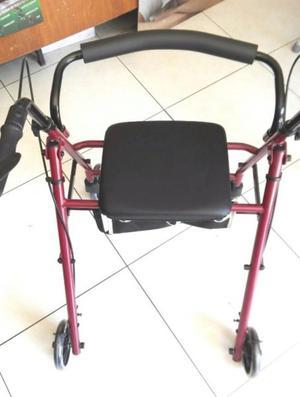 andadera con asiento / silla con frenos