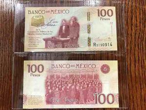 100 Pesos Centenario De La Constitución, Con Mica Especial