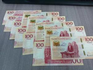 Billete 100 Pesos Centenario De La Constitución