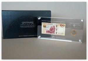 Centenario Constitución acrílico Lujo De Banco De
