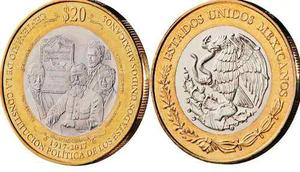 Moneda 20 Pesos Centenario De La Constitución Sin Circular