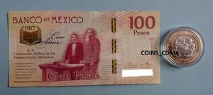 Set Billete $100 Centenario Constitucion Moneda $ Nvo