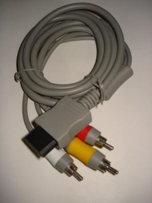 Cables Audio Y Video Consola Nintendo Wii 2 Metros De Largo