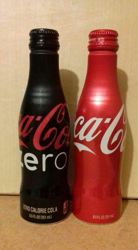 Coca Cola Y Coca Zero En Botella De Aluminio Nuevas Sin Usar
