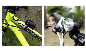 Lámpara Recargable Bicicleta mah Led T Lumenes