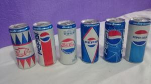 Lote 6 Latas Pepsi Retro Edicion Especial