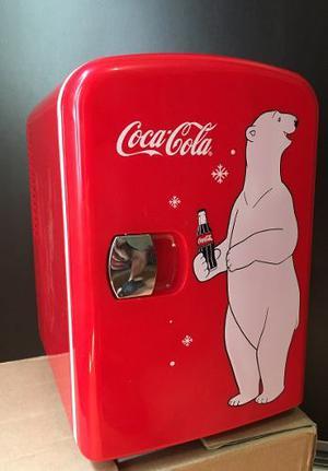 Mini Refrigerador Coca Cola 6 Latas Enfría Y Calienta