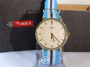 Reloj timex weekender correa nylon,luz,elegante,c