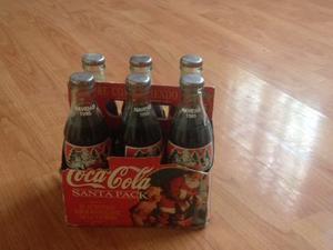 Set 6 Botellas Coca Cola Navidad  *arlekus*