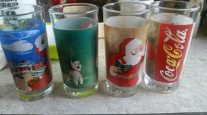 Vasos Coca Cola Santa Colección 4 Pzas
