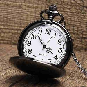 Reloj De Bolsillo De Color Negro Pocket Watch Black