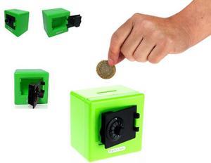 Alcancia Caja Fuerte Combinacion Verde