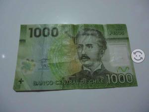 Billete de  pesos chile