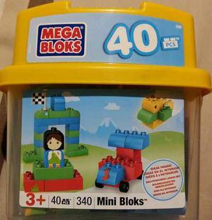 Mega Bloks Caja De Mini Bloques Set 340 Con 40 Piezas Nuevo