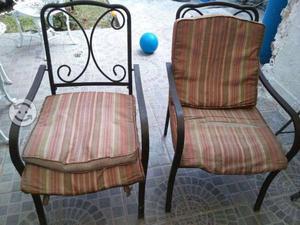 Par de sillas para jardin o terraza de herreria