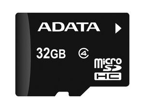 Adata Ausdh32gcl4-ra1 Micro Sdhc 32 Gb Con Adaptador A Sd Cl
