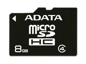 Adata Ausdh8gcl4-ra1 Micro Sdhc 8 Gb Con Adaptador A Sd Clas