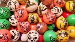 Balones Huecos De Kung Fu Panda Para Máquinas Chicleras
