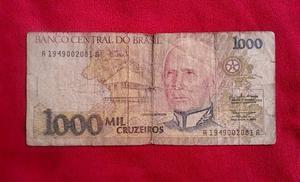 Billete Brasileño Antiguo  Cruzeiros