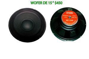 Bocina Woofer De 15 De 200 Wats