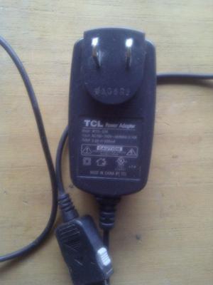 Cargador para celular marca TCL 500 mA Modelo WYS-036