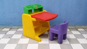 Escritorio pizarron step 2 little tikes de colores