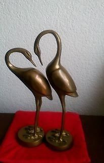 Escultura de Garzas de Bronce Artista Manuel Bueno