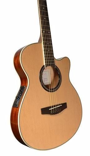 Guitarra Electroacustica Caraya Natural Cdas Acero F-550ceqn