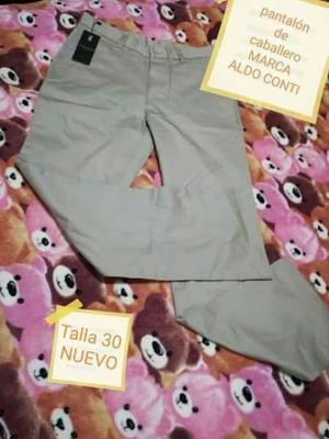 Pantalón beige marca ALDO CONTI
