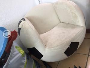 Sillon giratorio en forma de balon de fut