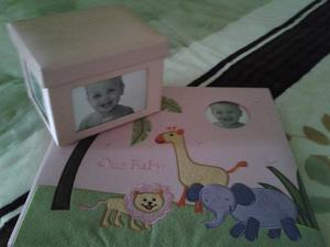 Album Fotografico Y Caja De Recuerdos De Bebe