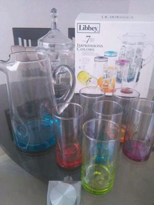 Set de jarra con vasos REMATE