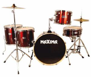 Bateria Maxima Acustica Color Vino 5 Piezas Md330set