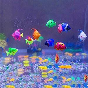 Acuario Decoraciones, Govine 12pcs Plástico Peces Artificia