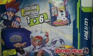 Beyblade Edición Limitada Metal Fusion 1+ 6 Con Estadio Y 6