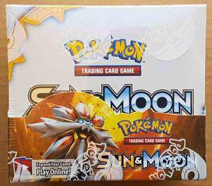 Caja De 36 Sobres De Pokemon Tcg Sun & Moon Nueva Y Sellada
