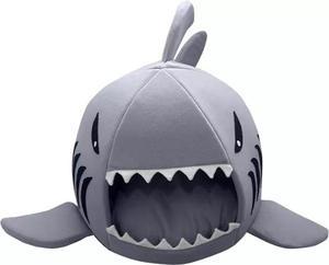 Cama Igloo En Forma De Tiburon Chica Perros, Gatos, Hurones