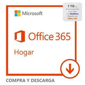 Office  Pc/mac+1 Tablet+1 Tb En Nube+60 Min Skype 1