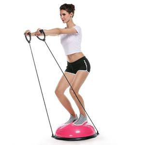 Pelota Inestabilidad Tipo Bosu Yoga Aerobics Unisex Rosa